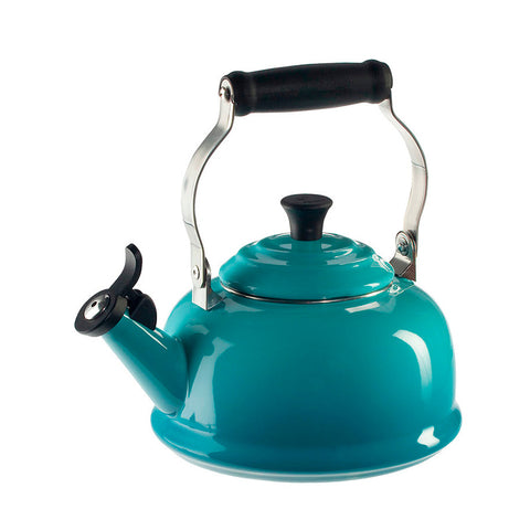 Le Creuset Enamel on Steel Whistling Tea Kettle, 1.7 qt, Caribbean
