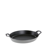 Staub Cast Iron Oval Dish Gratin Baking, 14.5-in x 11.2-in, Graphite Grey