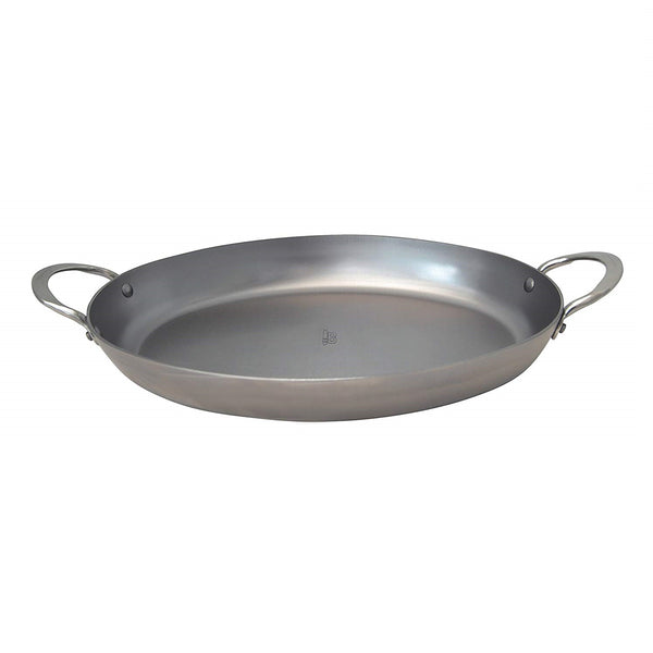 de Buyer Carbon Steel Oval Roasting Pan 14 x 9.5""