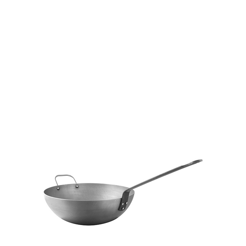 Mauviel M'steel Carbon Steel Wok, 11.8-in