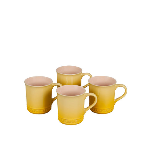 Le Creuset Stoneware Set of 4 Mugs, 14-oz, Soleil - Kitchen Universe