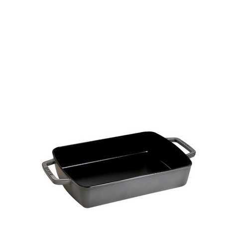 Staub Cast Iron Rosting Pan, 12-in x 8-in, Graphite Grey - Kitchen Universe