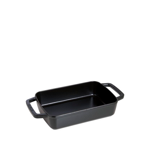 Staub Cast Iron Rosting Pan, 12-in x 8-in, Matte Black - Kitchen Universe