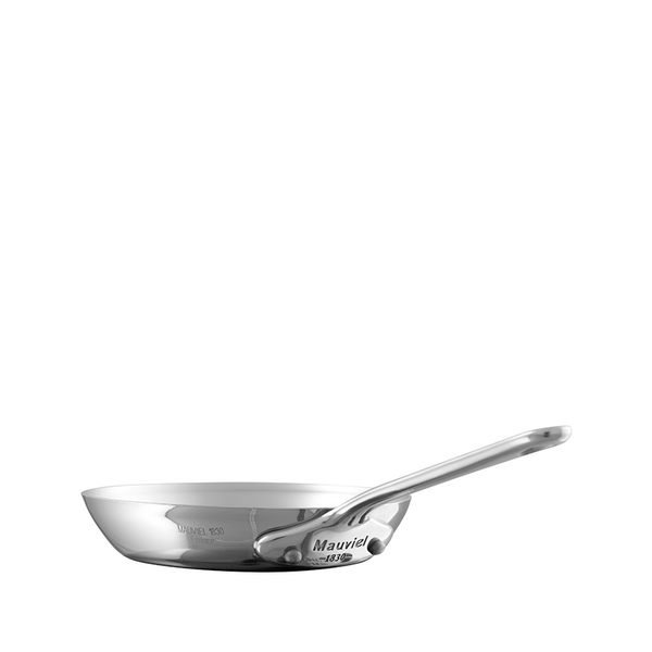 Mauviel M'mini Stainless Steel Round Frying Pan, 4.8-in
