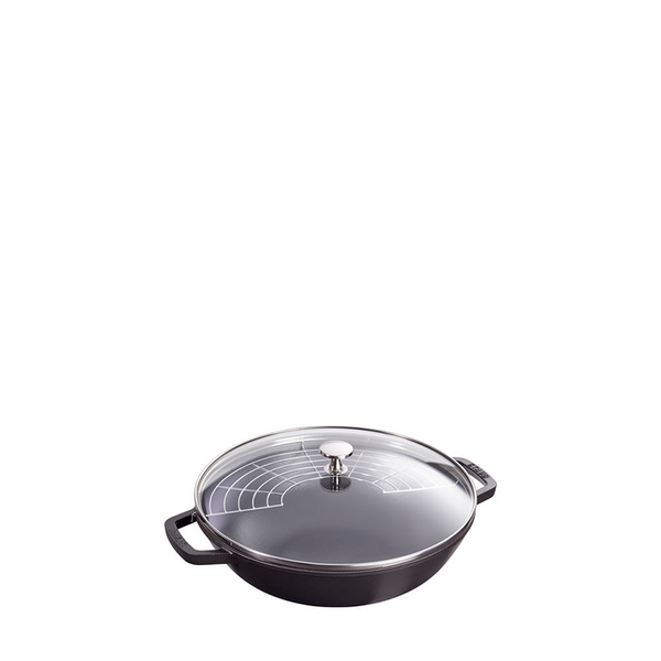 Staub Cast Iron Pan Perfect, 4.5 qt, Matte Black