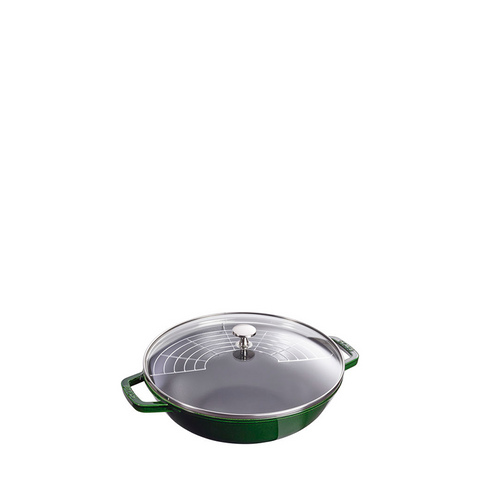 Staub Cast Iron Pan Perfect, 4.5 qt, Basil