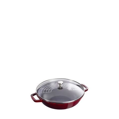 Staub Cast Iron Pan Perfect, 4.5 qt, Grenadine