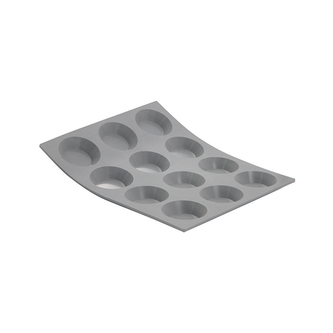 de Buyer Elastomules Silicone Mini Tartlets, 12 cavities