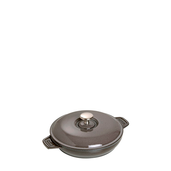 Staub Cast Iron Round Covered Dish Baking, 7.9-in, Graphite Grey