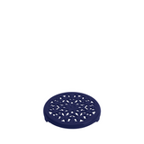 Staub Cast Iron Round Lilly Trivet, 9-in, Dark Blue