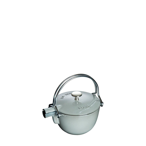 Staub Cast Iron Round Tea Kettle, 1 qt, Graphite Grey