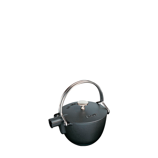 Staub Cast Iron Round Tea Kettle, 1 qt, Matte Black