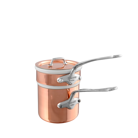 Mauviel M'heritage M150S Copper & Stainless Steel Bain-Marie, 0.9-qt
