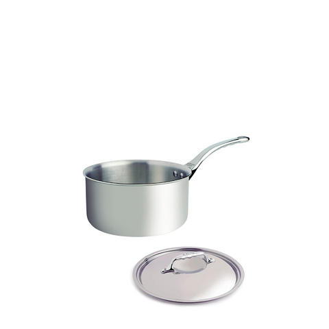 de Buyer Affinity Stainless Steel Saucepan w/Lid - Kitchen Universe