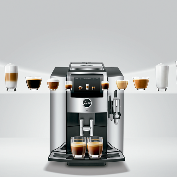 Jura S8 Fully Automatic Bean-To-Cup Coffee & Espresso Machine, Chrome