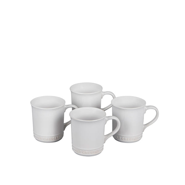 Le Creuset Stoneware Set of 4 Mugs, 14-oz, White