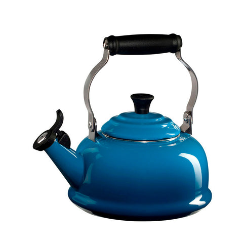 Le Creuset Enamel on Steel Whistling Tea Kettle, 1.7 qt, Marseille