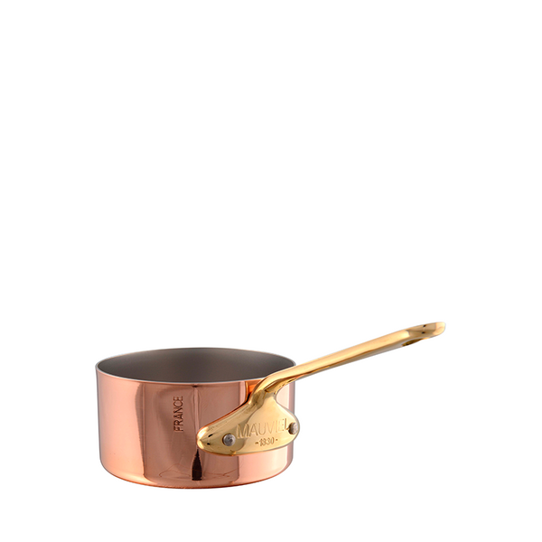 Mauviel M'Mini Bronze Small Saucepan, 3.5-in