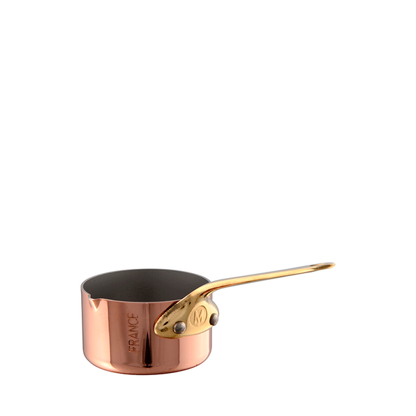 Mauviel M'mini Copper & Bronze Saucepan w/Pouring Edge, 1.7-oz