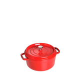 Staub Cast Iron Round Cocotte Oven 5.5-qt, Cherry Red