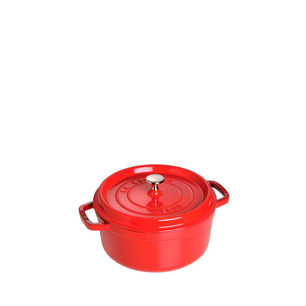 Staub Cast Iron Round Cocotte Oven 5.5-qt, Cherry Red - Kitchen Universe