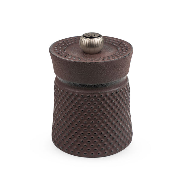 Peugeot Bali Fonte Cast Iron Pepper Mill with Tan Hoi Peppercorns, Brown