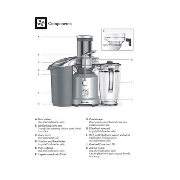 Breville Juice Extractor The Juice Fountain Cold