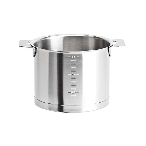 Cristel Strate L Brushed Stainless Milkpot, 1.7 qt