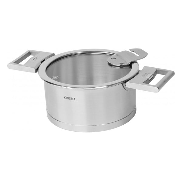 Cristel Strate L Brushed Stainless Stew / Casserole Pan With Lid
