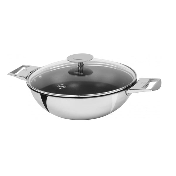 Cristel Casteline Multiply Stainless Wok With Lid