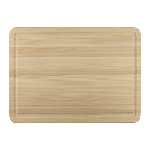 Shun Hinoki Cutting Board with Groove 20 x 14 x 1-in