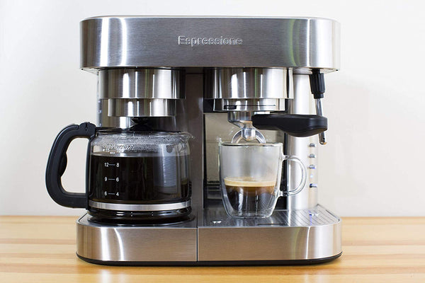 Espressione Stainless Steel Combination Espresso Machine & 10 Cup Drip Coffee Maker