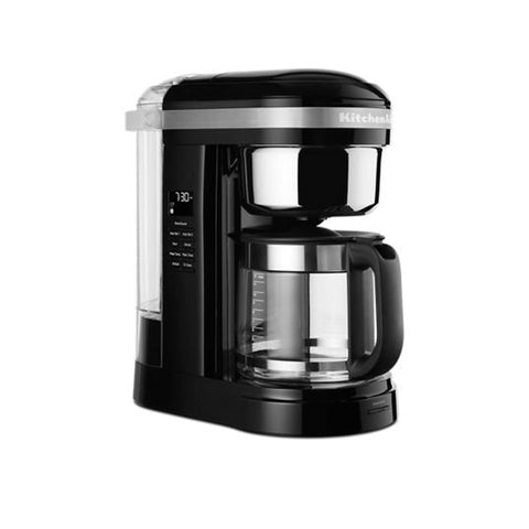 KitchenAid 12-Cup Drip Coffee Maker with Spiral Showerhead and Programmable Warming Plate, Onyx Black