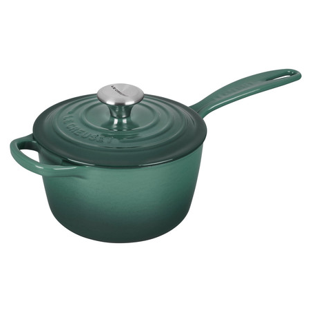 Le Creuset Signature Enameled Cast Iron Sauce Pan with Lid, 1.75 qt, Artichaut