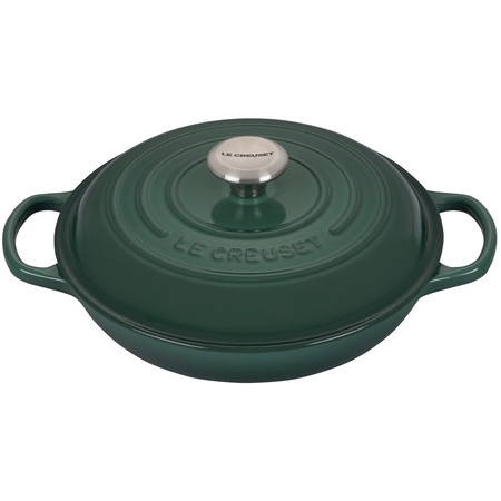 Le Creuset Signature Braiser with Stainless Steel Knob, 2.25 qt, Artichaut