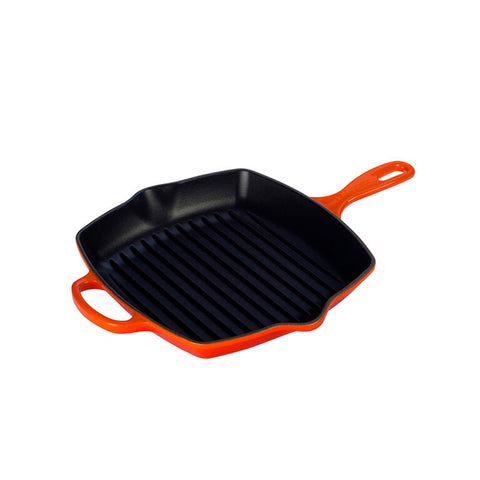 Le Creuset Signature Iron Handle Square Skillet, 10.25 qt. Flame