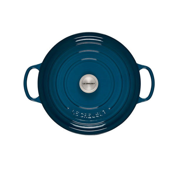 Le Creuset Signature Enameled Cast Iron Round French / Dutch Oven, 7.25 qt. Deep Teal