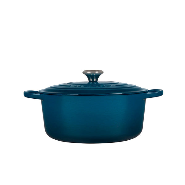 Le Creuset Signature Enameled Cast Iron Round French / Dutch Oven, 7.25 qt. Deep Teal - Kitchen Universe