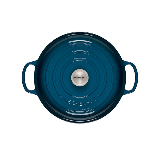 Le Creuset Signature Braiser, 3.5 qt, Deep Treal - Kitchen Universe