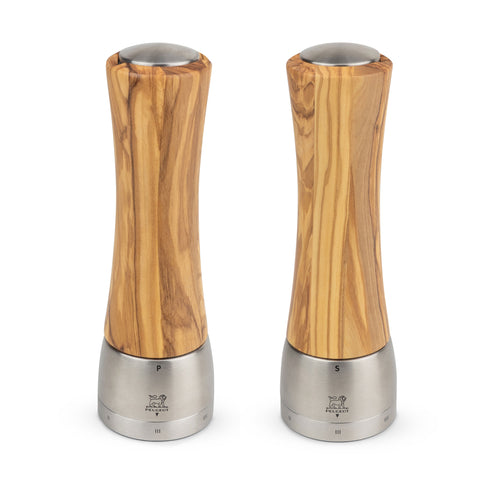 Peugeot Madras u'Select Olivewood Pepper & Salt Mill Set, 8-in - Kitchen Universe