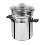 Cristel Mutine Stainless Steel Stockpot With Glass Lid