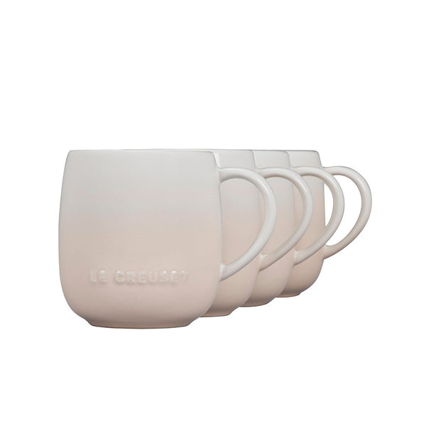 Le Creuset Heritage Stoneware Mugs Set of 4, 13-oz, Meringue