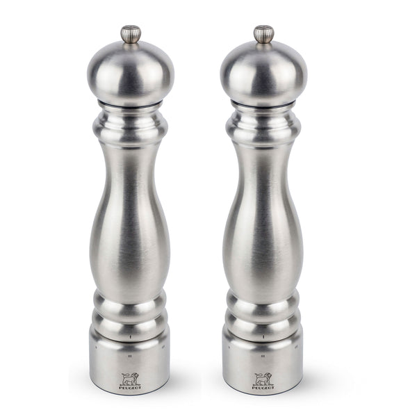 Peugeot Paris Chef u'Select Stainless Steel Pepper & Salt Mill Set, 12-in