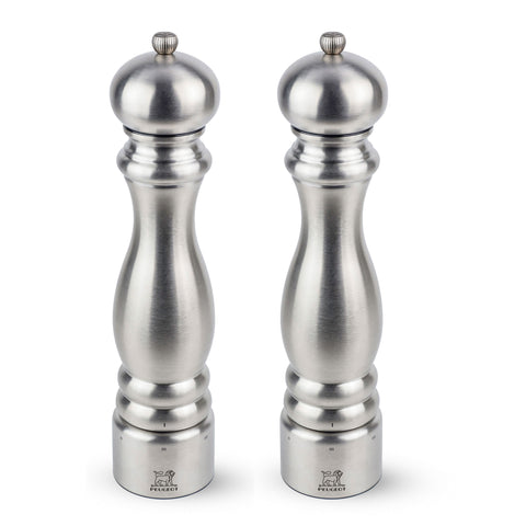 Peugeot Paris Chef u'Select Stainless Steel Pepper & Salt Mill Set, 12-in - Kitchen Universe