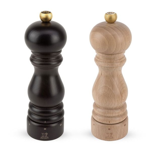Peugeot Paris u'Select Pepper & Salt Mill Set, Chocolate and Natural 7-in - Kitchen Universe