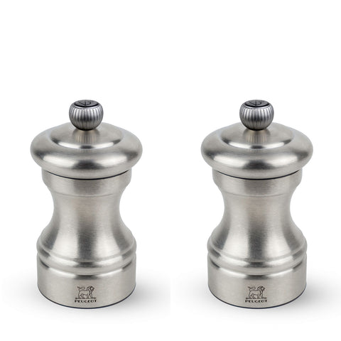 Peugeot Paris Bistro Chef Stainless Steel Pepper & Salt Mill Set, 4-in - Kitchen Universe