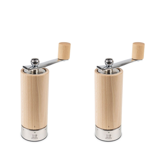 Peugeot Isen u'Select Pepper and Salt Mill Set, Natural 7-in