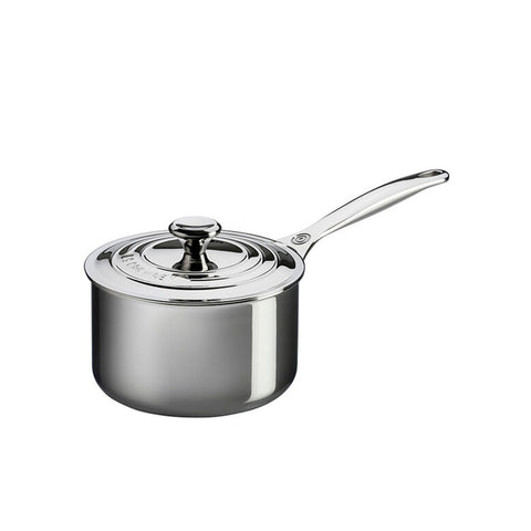 Le Creuset 3-Ply Stainless Steel Sauce Pan With Lid, 2-qt