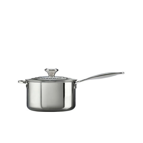 Le Creuset Saucepan with Lid Stainless Steel 4 In. - Kitchen Universe