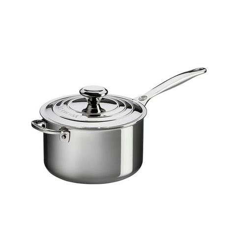 Le Creuset Saucepan with Lid Stainless Steel 4 In.